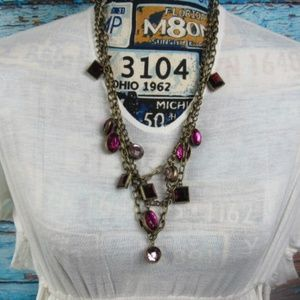 Jewelry - Multi Charm Antique Look Necklace
